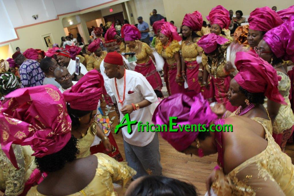 African events picture of Ibo women dancing and celebrating