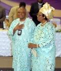 Celebrant Venerable Dr. Nwaigwe and wife
