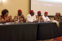 Deputy Senate President of Nigeria, Chief Ike Ekwerenmadu; Anambra State Governor- Chief Willy Obiano, Senator Hope Uzodinma; His Royal Majesty Dr. Cletus Iromuanya