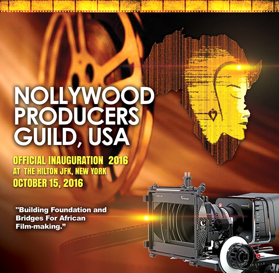 Brochure Cover of Nollywood Producers Guild USA Inauguration