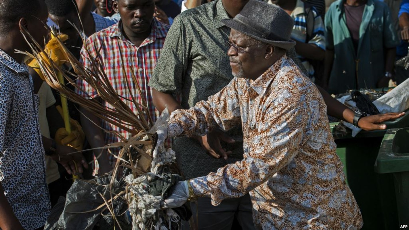 President John Magufuli engaged in clean up exercise