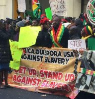 Africans rallying Against Slavery